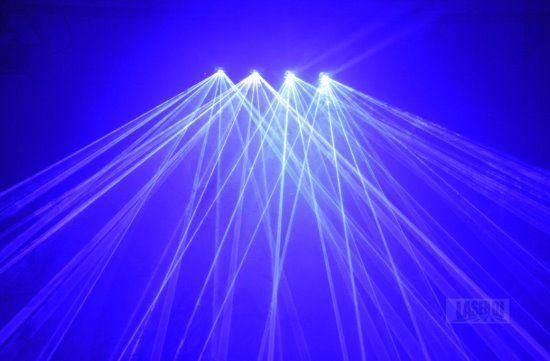 Laser show 4 Saidas Azul Royal 300mW